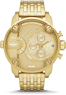 Men's Little Daddy Quartz Stainless Steel Chronograph Watch, Color: Gold-Tone (Model: DZ7287)
