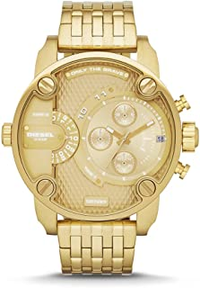 Diesel Men's Little Daddy Quartz Stainless Steel Chronograph Watch, Color: Gold-Tone (Model: DZ7287)
