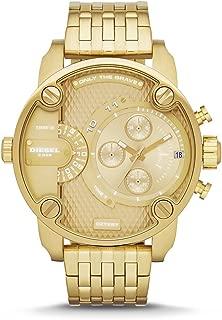 Men's Little Daddy Quartz Stainless Steel Chronograph Watch, Color: Gold-Tone (Model: DZ7287)