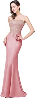 light pink mermaid prom dress