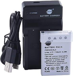 DSTE EN-EL5 Li-Ion Batería Traje y Cargador Micro USB Compatible con Nikon Coolpix P510 P520 P530 P5100 P6000 S10 P3 P4 P80 P90 P100 P500