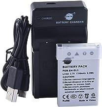 DSTEN-EL5 Li-Ion Batería Traje y Cargador Micro USB Compatible con Nikon Coolpix P510 P520 P530 P5100 P6000 S10 P3 P4 P80 P90 P100 P500