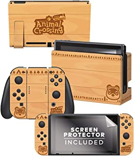Controller Gear Animal Crossing: New Horizons -Woodtone - Nintendo Switch Skin & Screen Protector Set - Nintendo Switch