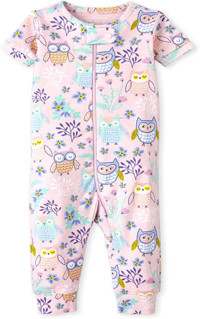 The Children's Place Baby And Toddler Girls Own Snug Fit Cotton One Piece Pajamas