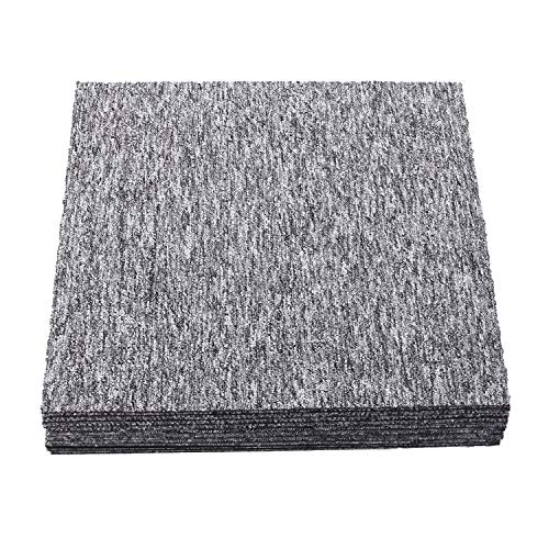 uyoyous タイルカーペット 50×50cm 粘着 カーペット 20枚 ジョイントマット 吸着 タイルマット 組み 防音 厚手 洗える 滑り止め フロアマット トおくだけズレない 滑り止め粘着シート付き 床保護 タイルマット
