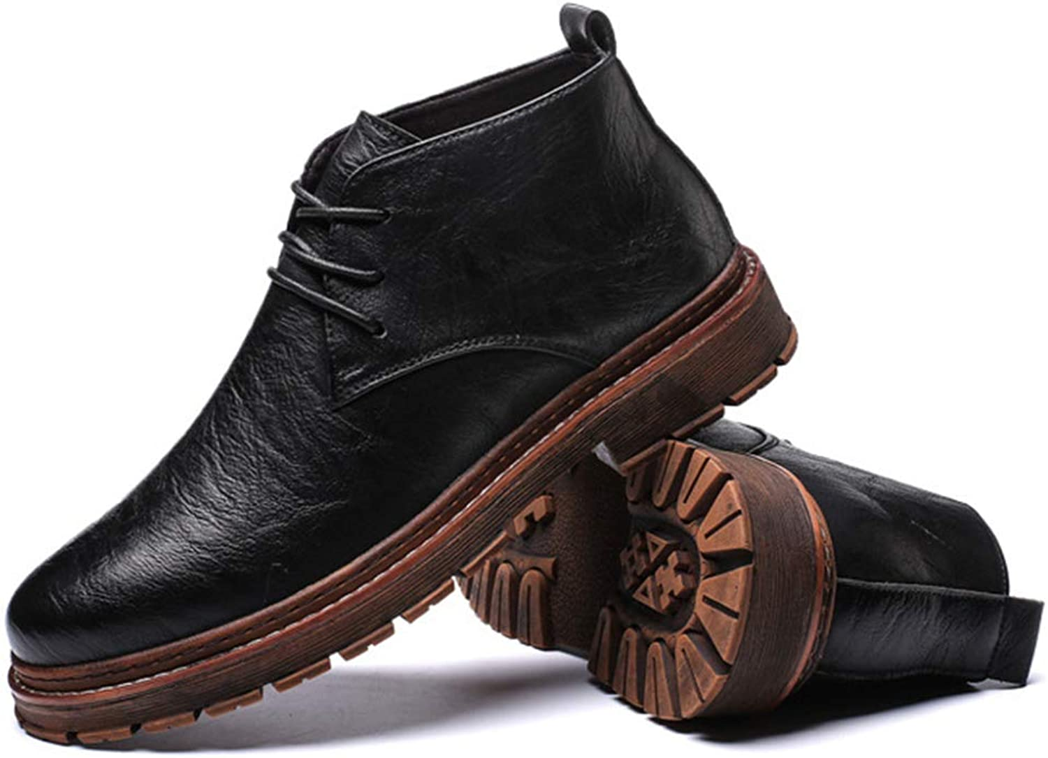 Men'S Martin Boots Leather Work Boots Large Size Casual shoes Ankle Boots Outdoor Hiking Boots Knight Boots Desert Boots