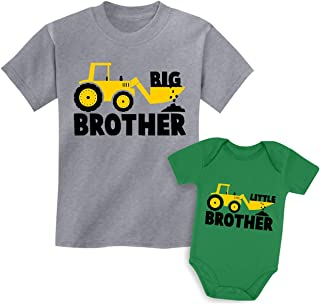 Big Brother Little Brother Shirts Gift for Tractor Loving...
