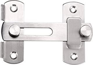Sumnacon Stainless Steel Safety Door Latches, Solid Gate Latches/Lock for Pet Gate,Cabinet Furniture, Window, Brushed Finish (1 Pcs)