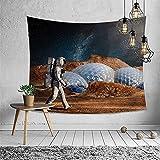 NTtie Tapiz, decoración de Dormitorio, Alfombrilla para Yoga, Toalla para Playa, Tapiz Multifuncional de Astronauta Impreso para Colgar en la Pared