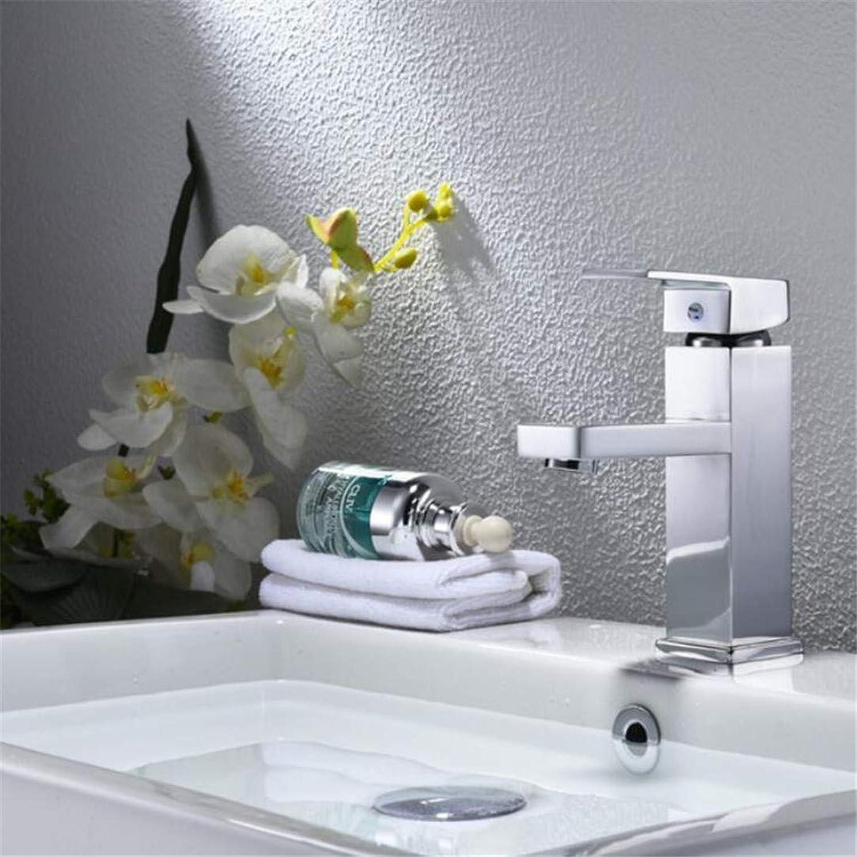 Faucet Washbasin Mixer Chrome Plated Bathroom Basin Faucet Brass Mixer Tap Silver Faucet. Single Handle Single Hole Deck Mounted Basin Sink Mixer Tap