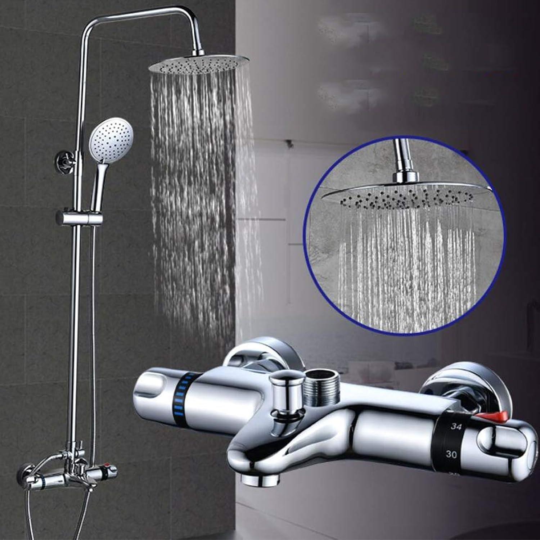 BTSSA Intelligente konstante Temperatur Badezimmer Duschset An der Wand montiert 3 Funktionen Knopf System