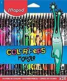 Lápices Color'Peps Monster-24 lápices de resina decorados. MAPED 862612