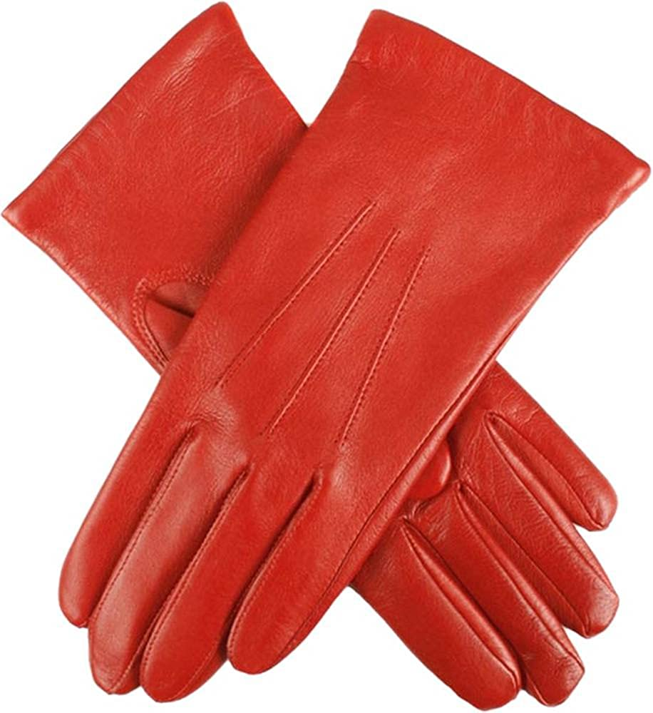 Dents Womens Emma Classic Hairsheep Leather Gloves - Chilli Red