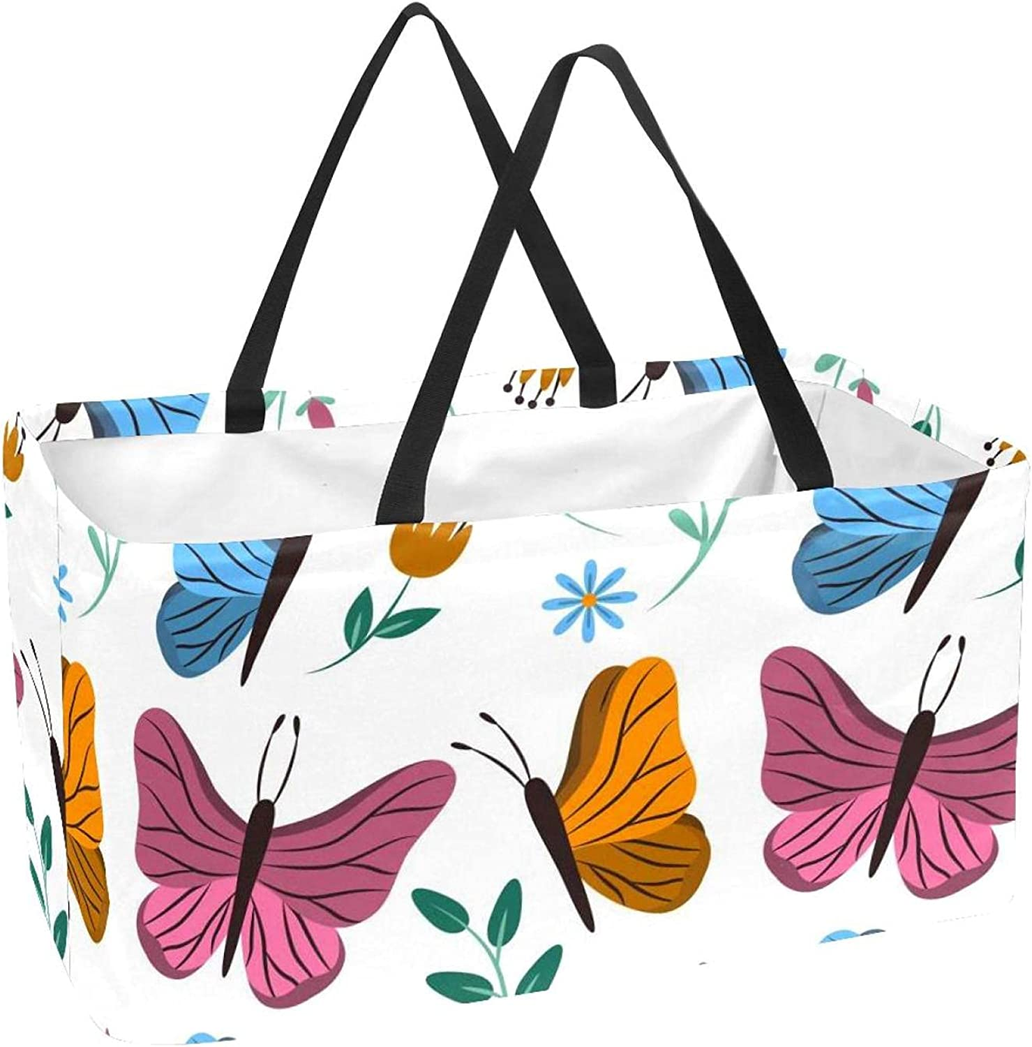 Reusable Grocery Tote Bags Shopping Basket 50L with Support Colu