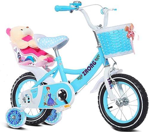 Fenfen Kinderfürr r 6-9-j ige mädchen fürrad 18-Zoll-Kinder fürrad High-Carbon-Stahl-Kinderwagen, Rosa lila Blau (Farbe   Blau)