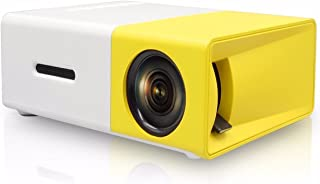 Kuce Mini-projector, led, draagbaar, ondersteunt 1080p, kerstcadeau, Pico zakprojector, compatibel met boog/USB/iOS/Androi...