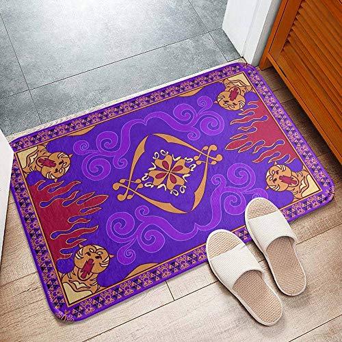 YilNGUN CC #a002 Aladdin'S Magic Carpet Felpudo de Franela Antideslizante 50x80 cm Decoración de baño Alfombra de Entrada fácil de Limpiar 20x31 Inch (B)