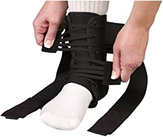 Med Spec ASO Ankle Stabilizer Orthosis Speed Lacer, Black, Small