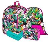 Mochila escolar para niños y niñas, set de 5 piezas, carcasa rígida, mochila escolar a partir de primera clase, mochila ergonómica con correa para el pecho.