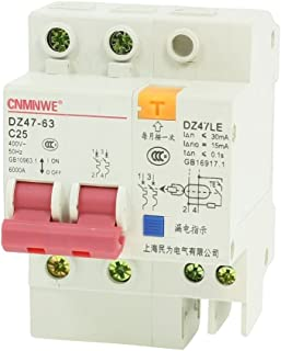 Aexit DZ47LE-63 25A Distribution electrical 400VAC Overload Protection 2 Poles MCB Mini Circuit Breaker 6000A