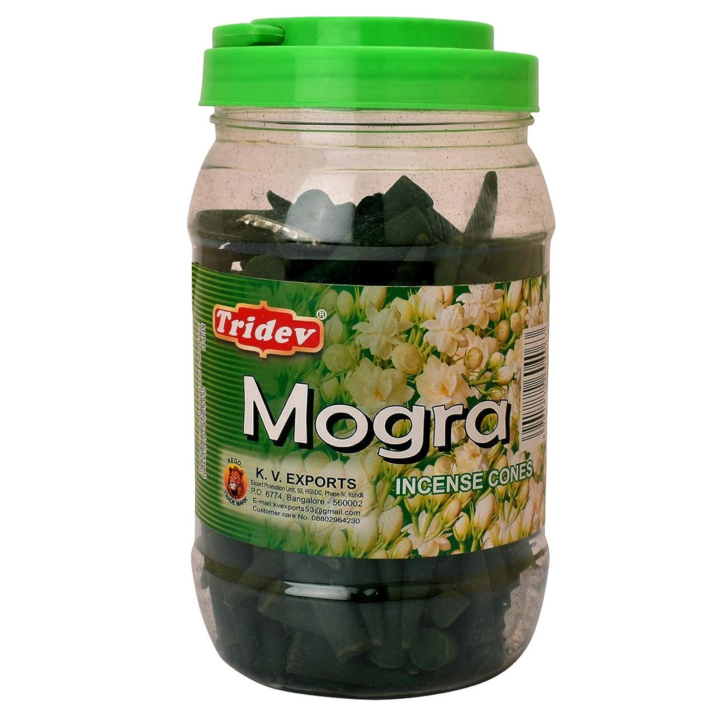 海峡アンソロジー運動するTridev Mogra フレグランス コーン型お香 500グラム 瓶 輸出品質