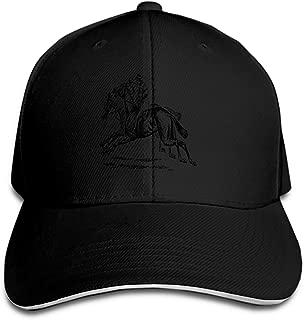 PHOSUP Unisex Bird Sitting Tail Festhers Brown Cotton Denim Dad Hat Adjustable Plain Cap