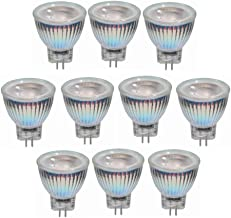 LED Lamp 10pcs,3W MR11 LED Bulb AC/DC 12V-24V,GU4 COB LED Spotlight 25W Equivalent GU4 Base for Home, Recessed Accent Trac...