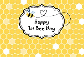 Yeele 8x6ft Vinyl Happy 1st Bee Day Backdrop for Photography Honey Honeycomb Background Lovely Bees Kid Baby Boy Girl Birthday Portrait Photo Studio Props