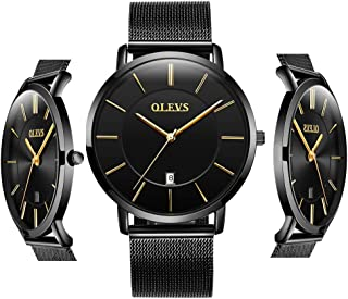 Inexpensive Watches Men Women Analog Quartz Business Watch Stainless Steel Classic Waterproof Watches Unique Calendar Date Window Wristwatch