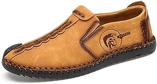 c9db67ec Hombres Casual Zapatos clásicos cómodos Mocasines Split Zapatos de Cuero  Hombres Pisos