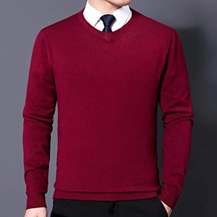 NKSS Suéter Hombre Casual Pullover Hombre Otoño Slim Fit ...