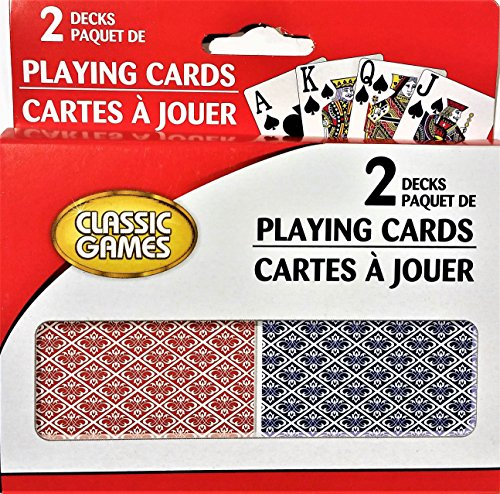 Classic Games Playing Cards 2 Decks