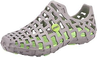 Unisex Sandalias de Pareja Zapatos con Orificios Huecos de un pie Sandalias de Playa Botas de Lluvia Zapatillas de vadeo baño Piscina Chanclas y Zapatillas