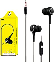 AutumnFall Universal 3.5mm In-Ear Stereo Earbuds Earphone with Mic for Cell Phone (Black)