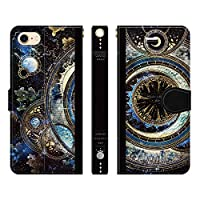 ブレインズ iPhone 12 12Pro 手帳型 ケース カバー 宇宙の光魔法書 よう wonder collection 宇宙 きれい 魔法 月 本