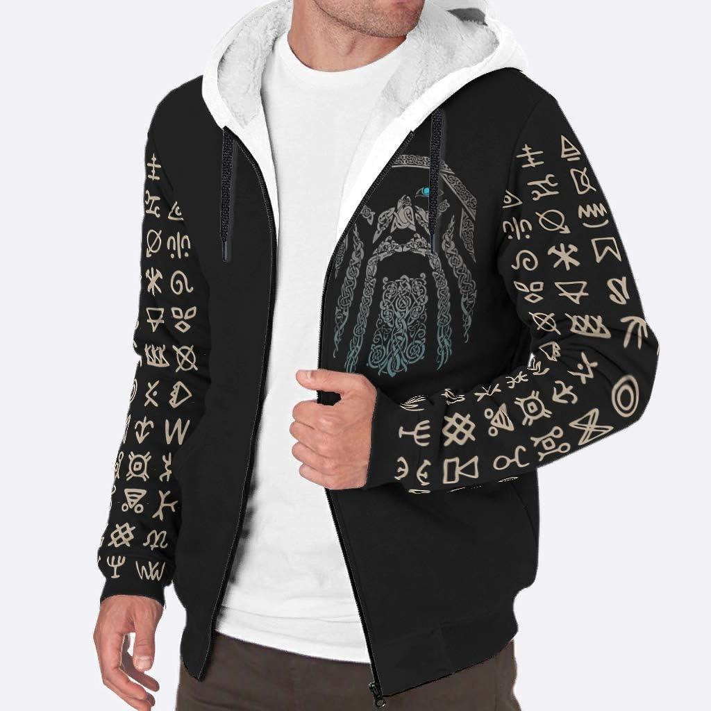 Sheeouis Mens Long-Sleeve Full Zip Virginia Beach Mall Fleece Viking NEW before selling Fashion She Man
