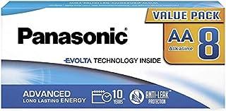Panasonic EVOLTA TECHNOLOGY INSIDE, AA Mignon LR6, 8-pack in plastic-free packaging, 1.5V, premium battery with long-lasti...