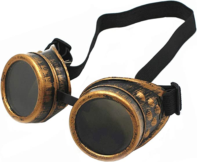 Steampunk Accessories | Goggles, Gears, Glasses, Guns, Mask WEICHUAN New Sell Vintage Steampunk Goggles Glasses Cosplay Punk Gothic(purple bronze)  AT vintagedancer.com