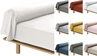 Taie De Traversin 10 Coloris Différents - 85x185 cm Percale 78 Fils(Lin)