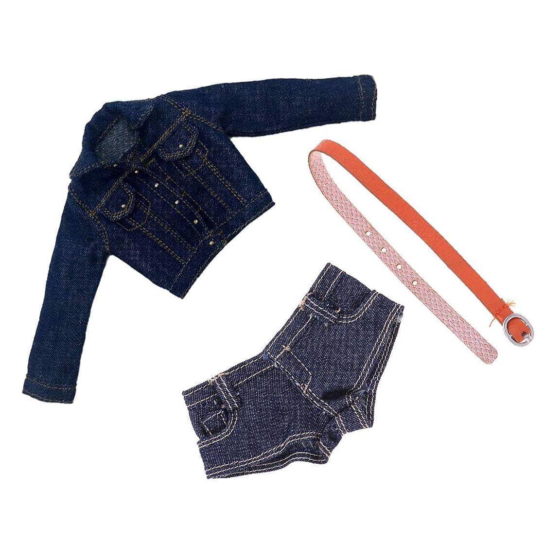 ゲインセイ一晩選出するドールジーンズ 女性ショートパンツ ジャケットコート 人形の服セット アクションフィギュア装飾