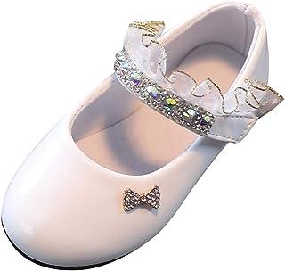 Topgrowth Scarpe Principessa Bambina Ragazza Scarpe di Pelle Bowknot Perla Casual Elegante Danza Piatto Scarpe Singole