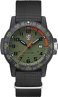 Luminox Mens Wrist Watch Leatherback Sea Turtle Giant 44 mm Black Green Display (XS.0337): 100 M Waterproof + Super Lumino...