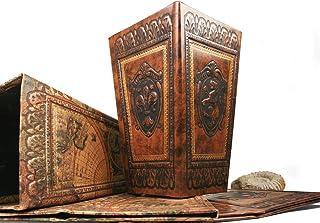LEATHERKIND Corbeille à Papier Storia Standard Fait-Main Alezan Classique (31cm x 20cm x 14cm)