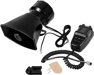 Estink Loud Horn Siren, 12V 120dB 7 Tones Car Electronic Warning Alarm with Mic PA Speaker System for Car Boat Van Truck