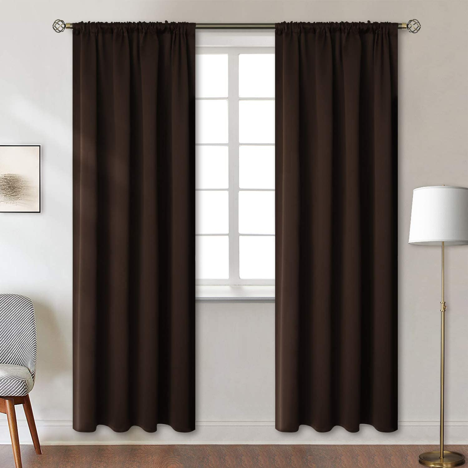 Rod アウトレット☆送料無料 Pocket バースデー 記念日 ギフト 贈物 お勧め 通販 Blackout Curtains for - Roo Bedroom Thermal Insulated