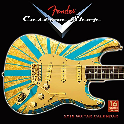 Fender Custom Shop Gitaren Muur Kalender door Verkopers Publishing Inc 2016