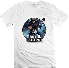 Men's Brutal Legend Game Short Sleeve T Shirt Size L White