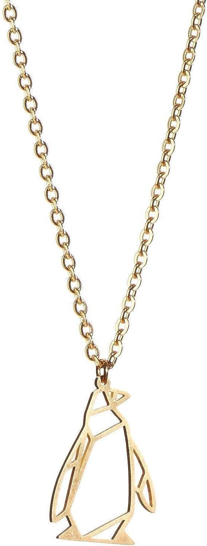 Fashion La Menagerie Penguin Gold Jewelry Neckl Geometric Long Beach Mall Origami