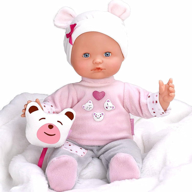 Bakaji Interactive Doll Nenuco Want the Cuddles Famosa Express 3 Moods, Doll for Girls with Teddy Bear