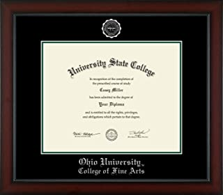 Ohio University College of Fine Arts - Officially Licensed - PhD - Silver Embossed Diploma Frame - Diploma Size 15